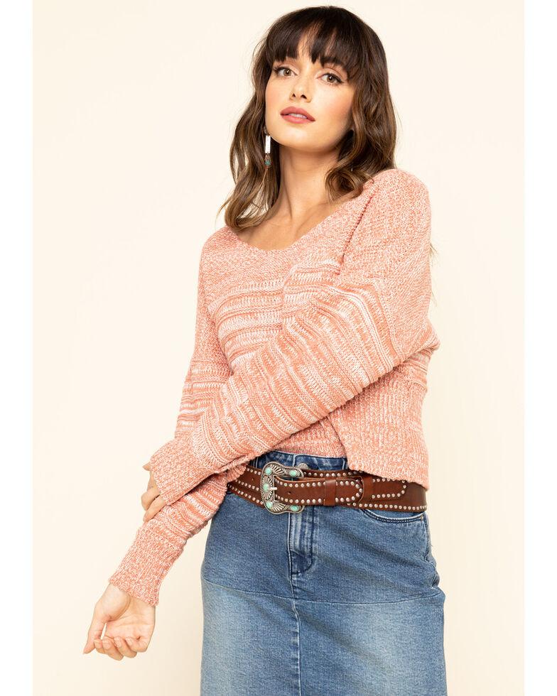 Rag Poets Women's Rose Dawn Spiagga Sweater, Pink, hi-res