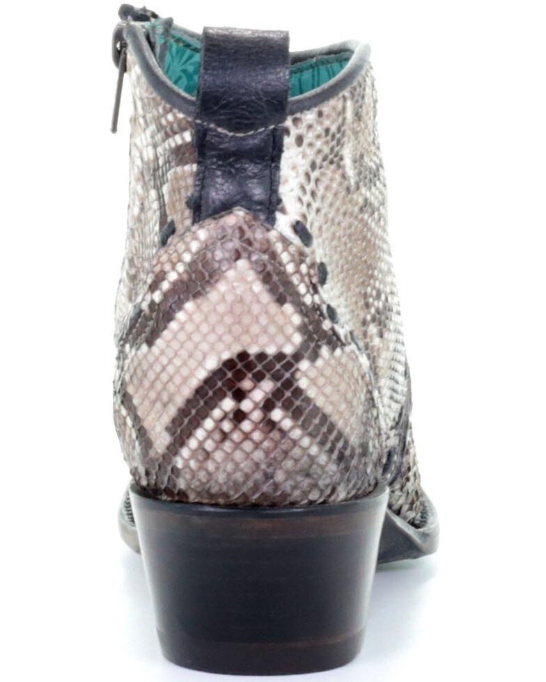 Corral Women's Natural Python Fashion Booties - Snip Toe, Brown, hi-res