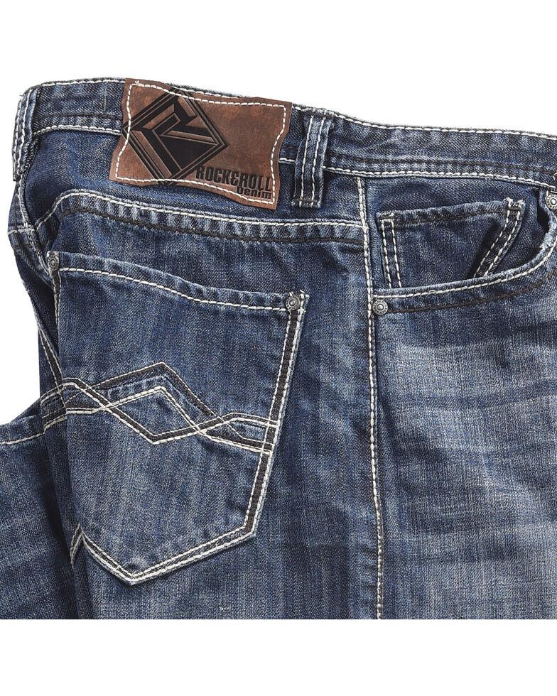 Rock & Roll Cowboy Men's Blue Cannon Jeans - Straight Leg , Blue, hi-res