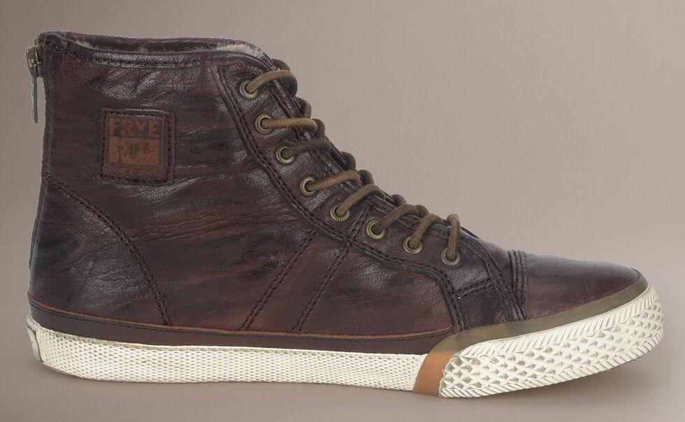 Frye Women's Greene High Back Zip Shearling Sneakers, Dark Brown, hi-res