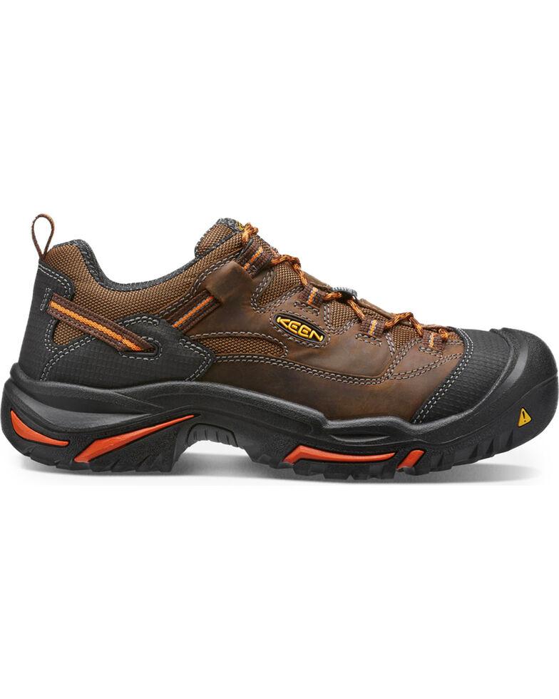 Keen Men's Braddock Low Soft Toe Shoes, Brown, hi-res