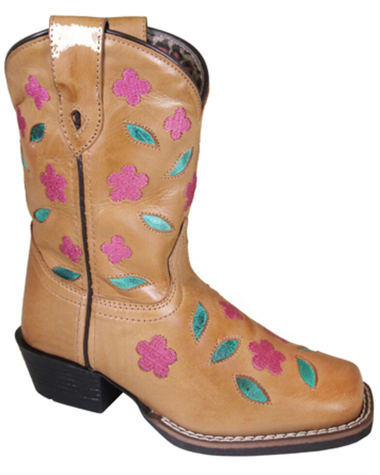 Smoky Mountain Youth Girls' Azalea Western Boots - Square Toe, Brown, hi-res
