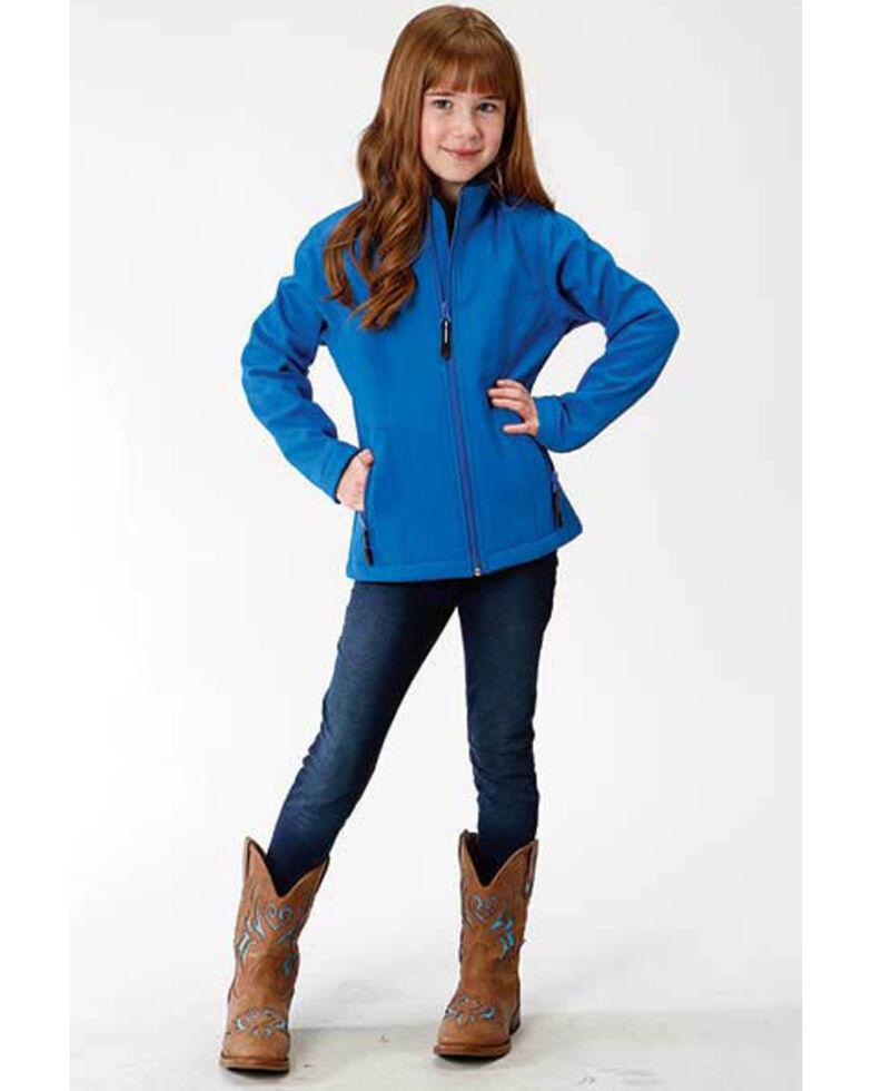 Roper Girls' Blue Softshell Jacket, Blue, hi-res