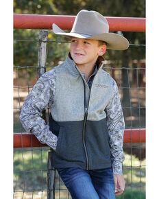 Cinch Boys' Multi Color Blocked Textured Bonded Vest , Purple, hi-res