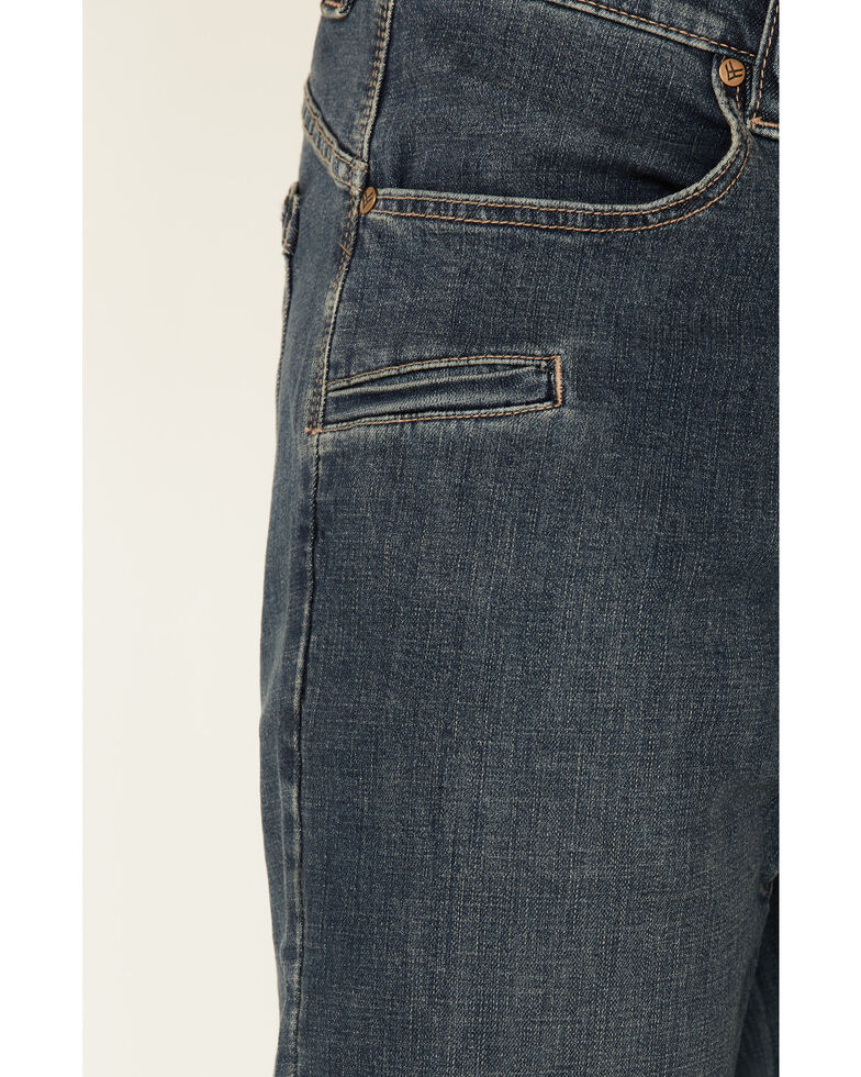 Hawx Men's Medium Wash Stretch Slim Bootcut Lined Work Jeans , Medium Blue, hi-res