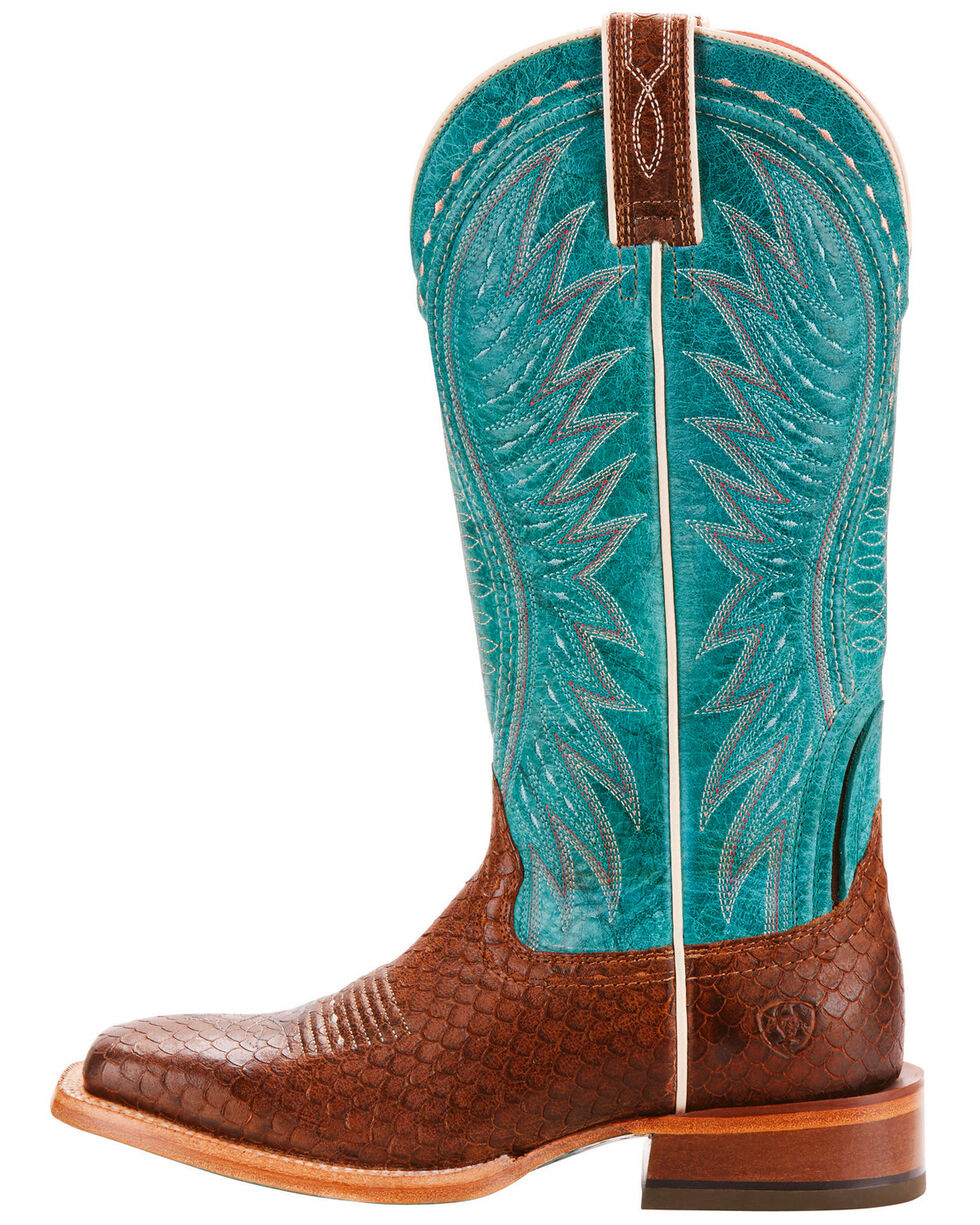 Ariat Women's Vaquera Diamondback Tan Performance Cowgirl Boots - Square Toe, Tan, hi-res