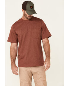 Hawx Men's Solid Red Forge Short Sleeve Work Pocket T-Shirt - Tall , Red, hi-res