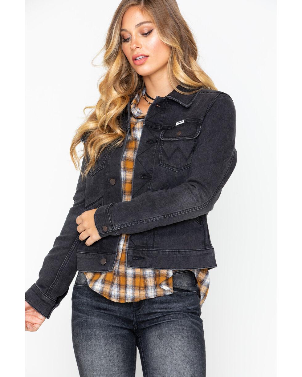 Wrangler Women's Modern Heritage Denim Jacket , Black, hi-res