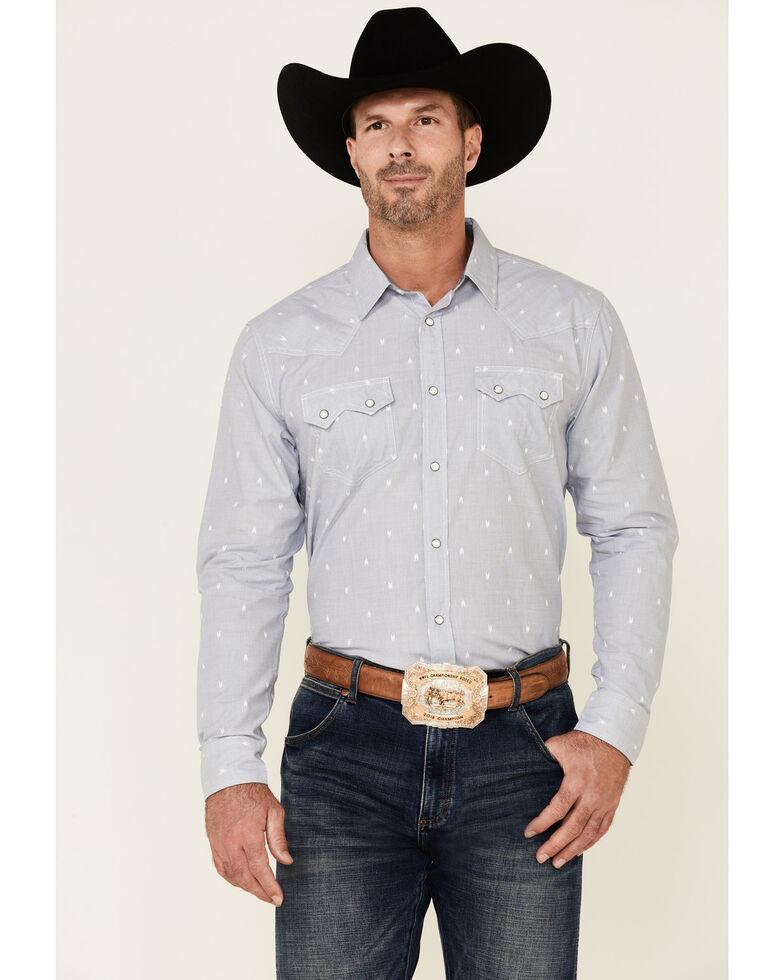 Cody James Men's Adventure Solid Dobby Long Sleeve Snap Western Shirt , Light Blue, hi-res