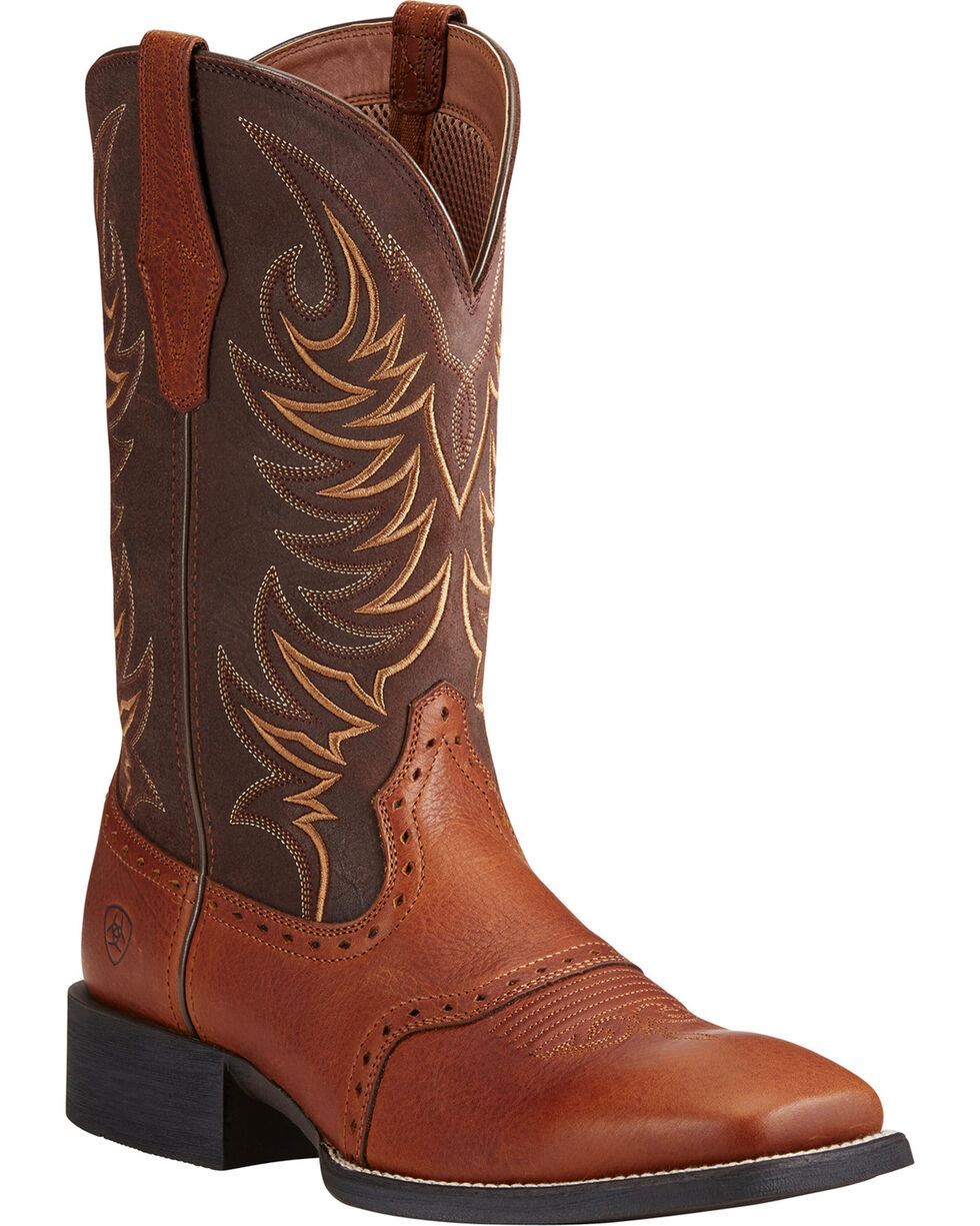 Ariat Men's Sport Sidewinder Performance Cowboy Boots - Square Toe, Lt Brown, hi-res