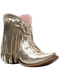 Junk Gypsy Women's Spitfire Fashion Booties - Snip Toe, Gold, hi-res