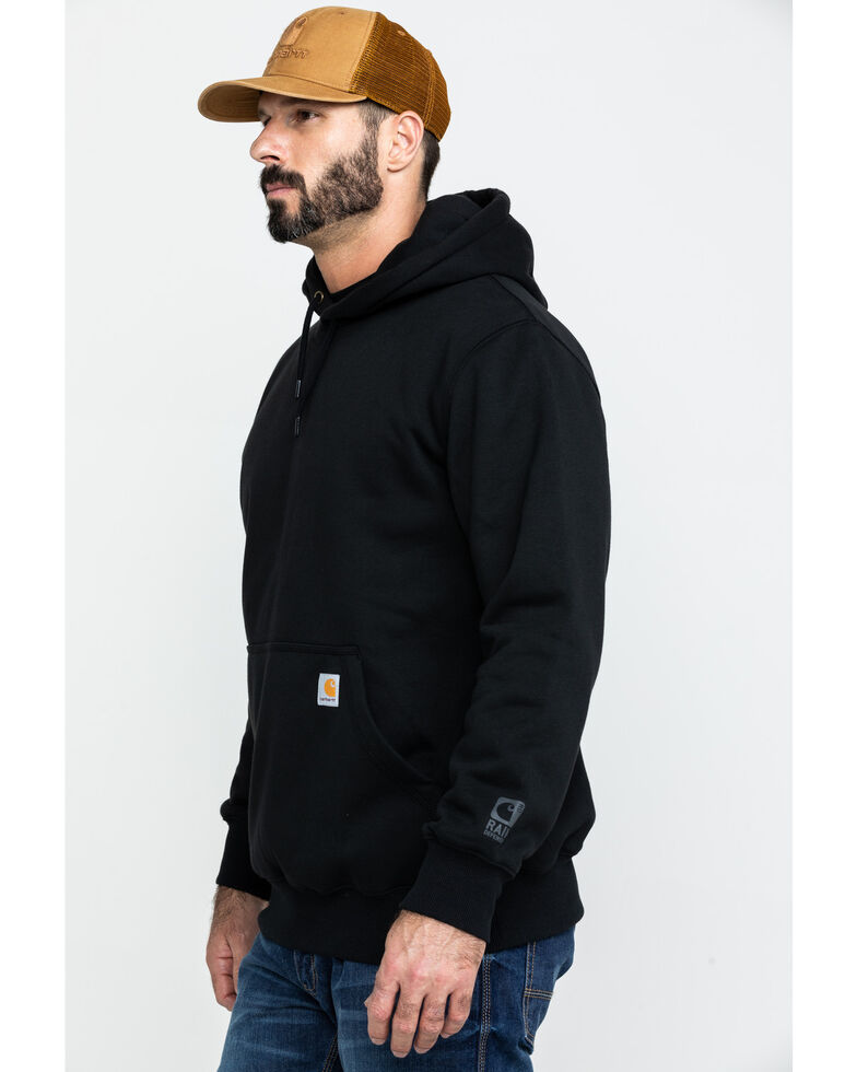 Carhartt Men's Rain Defender Paxton Heavyweight Hooded Work Sweatshirt, Black, hi-res