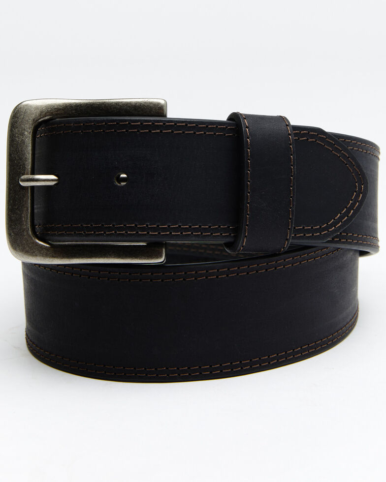 Hawx® Men's Black Contrast Stitch Belt, Black, hi-res