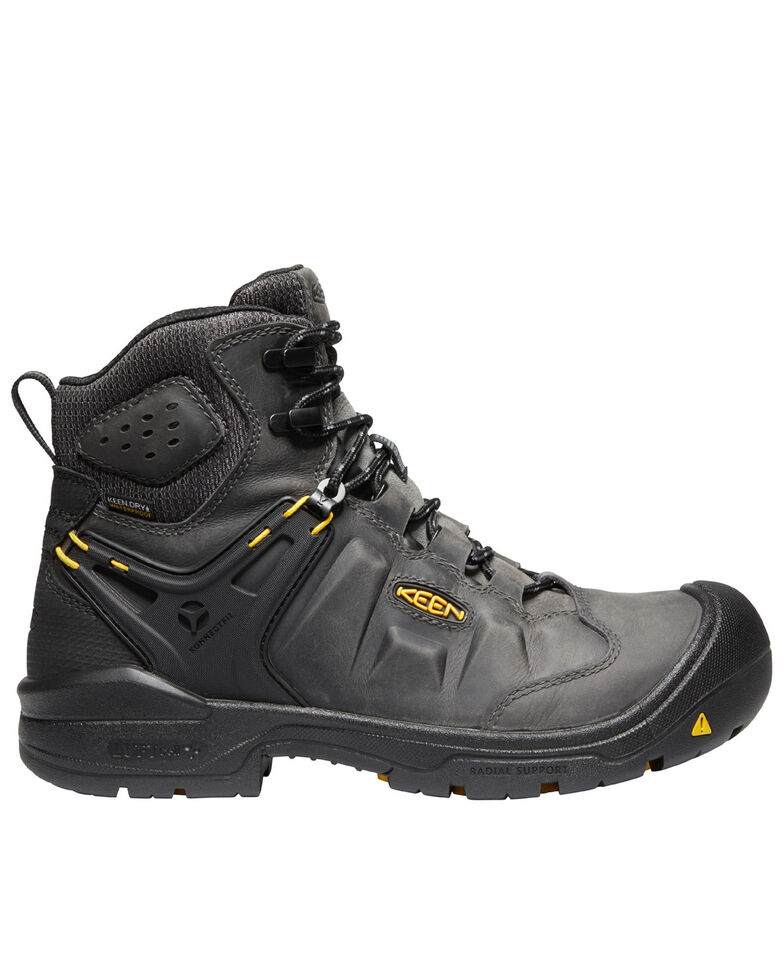 Keen Men's Black Dover Waterproof Work Boots - Composite Toe, Black, hi-res