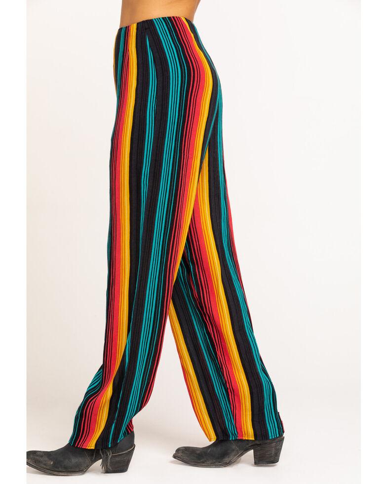 Rock & Roll Denim Women's Serape Wide Leg Pants, Multi, hi-res