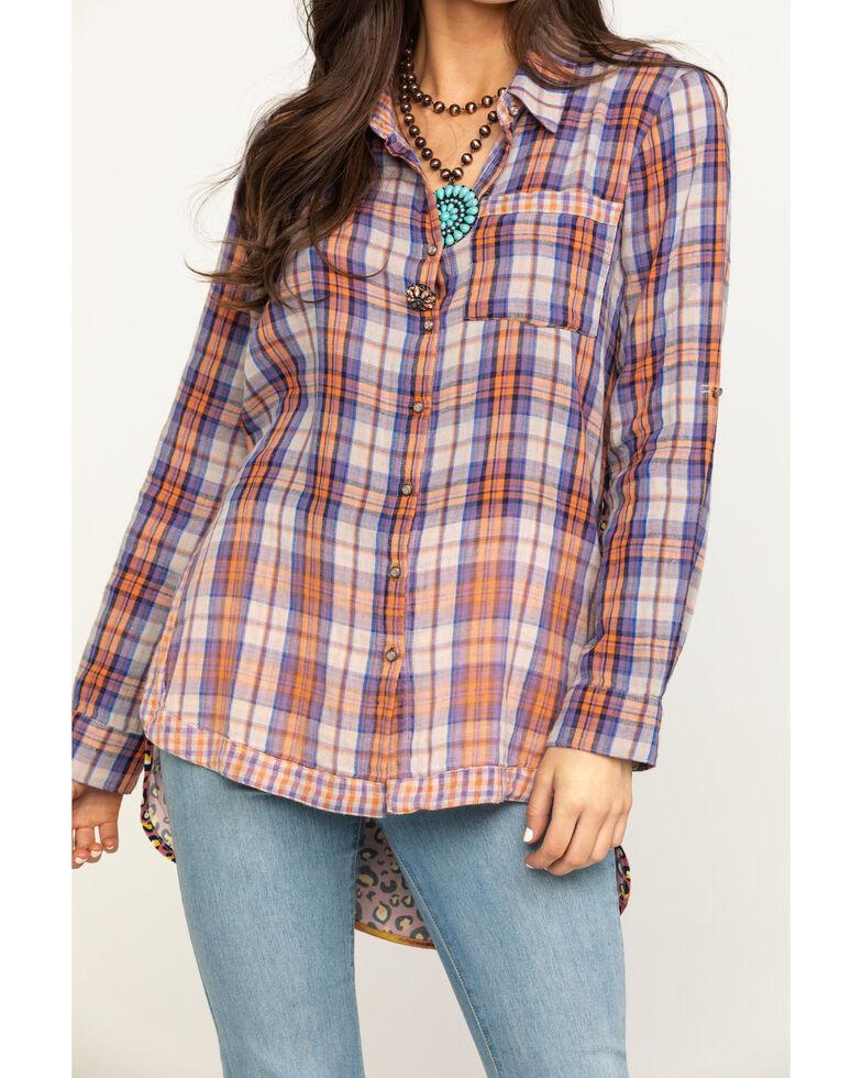 Aratta Women's Rust Leona Long Sleeve Top , Rust Copper, hi-res