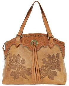 American West Women's Texas Rose Tote Bag, Tan, hi-res