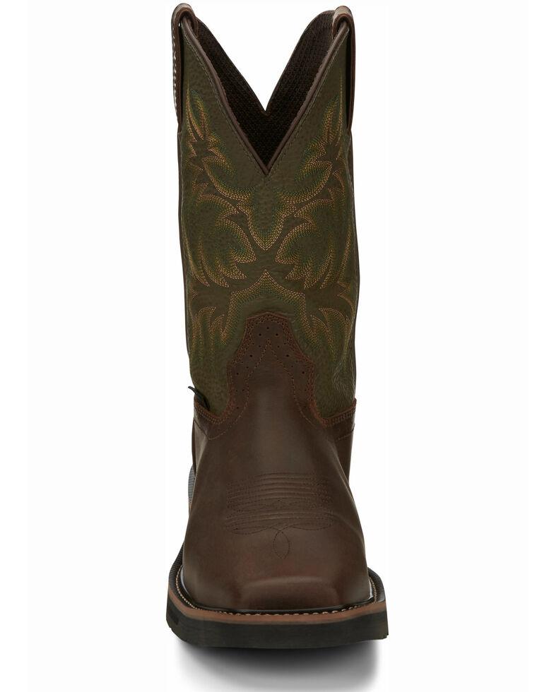 Justin Men's Keavan Waterproof Western Work Boots - Steel Toe, Brown, hi-res