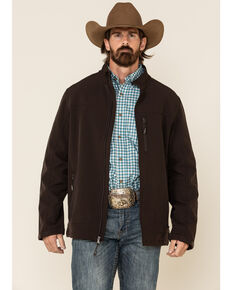 Cody James Men's Brown Steamboat Softshell Bonded Zip Front Jacket -  Big , Brown, hi-res