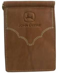 John Deere Crazyhorse Leather Wallet, Brown, hi-res