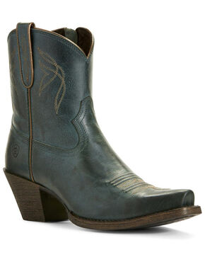 Ariat Women's Lovely Blue Grass Fashion Booties - Snip Toe, Blue, hi-res