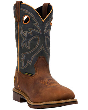 Dan Post Men's Hilldale Waterproof Western Work Boots - Steel Toe, Tan, hi-res
