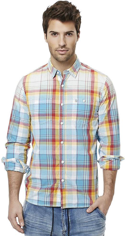 Buffalo Men's Sijax Plaid Long Sleeve Shirt , Plaid, hi-res