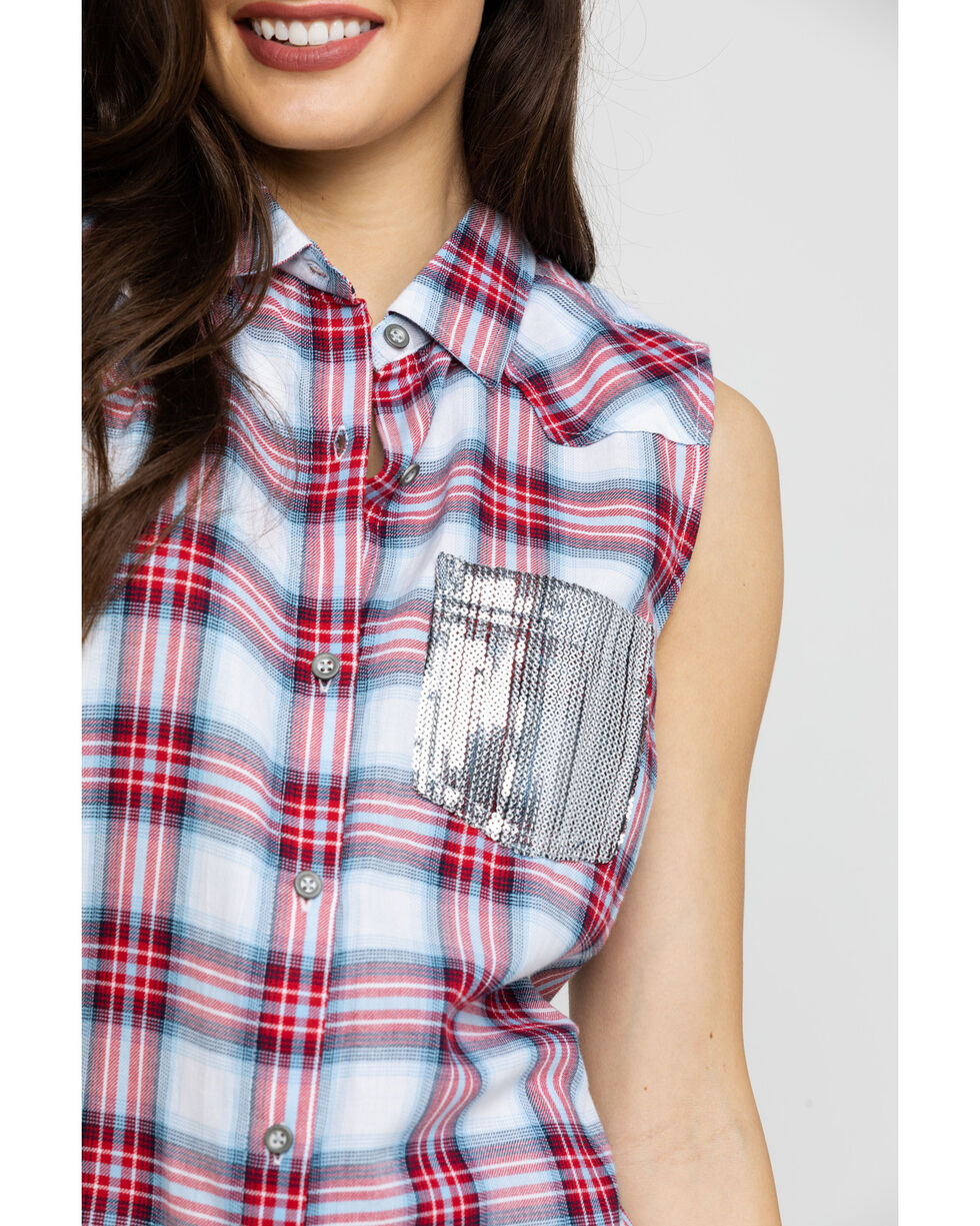 Ariat Women's Liberty Sleeveless Western Shirt, Multi, hi-res