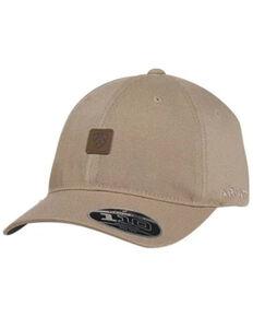 Ariat Men's Brass Clip Logo Patch Ball Cap , Tan, hi-res