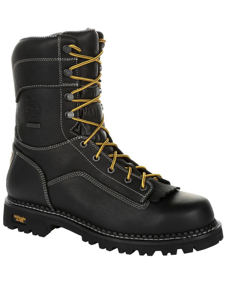 Georgia Boot Men's Amp LT Logger Work Boots - Composite Toe, Black, hi-res
