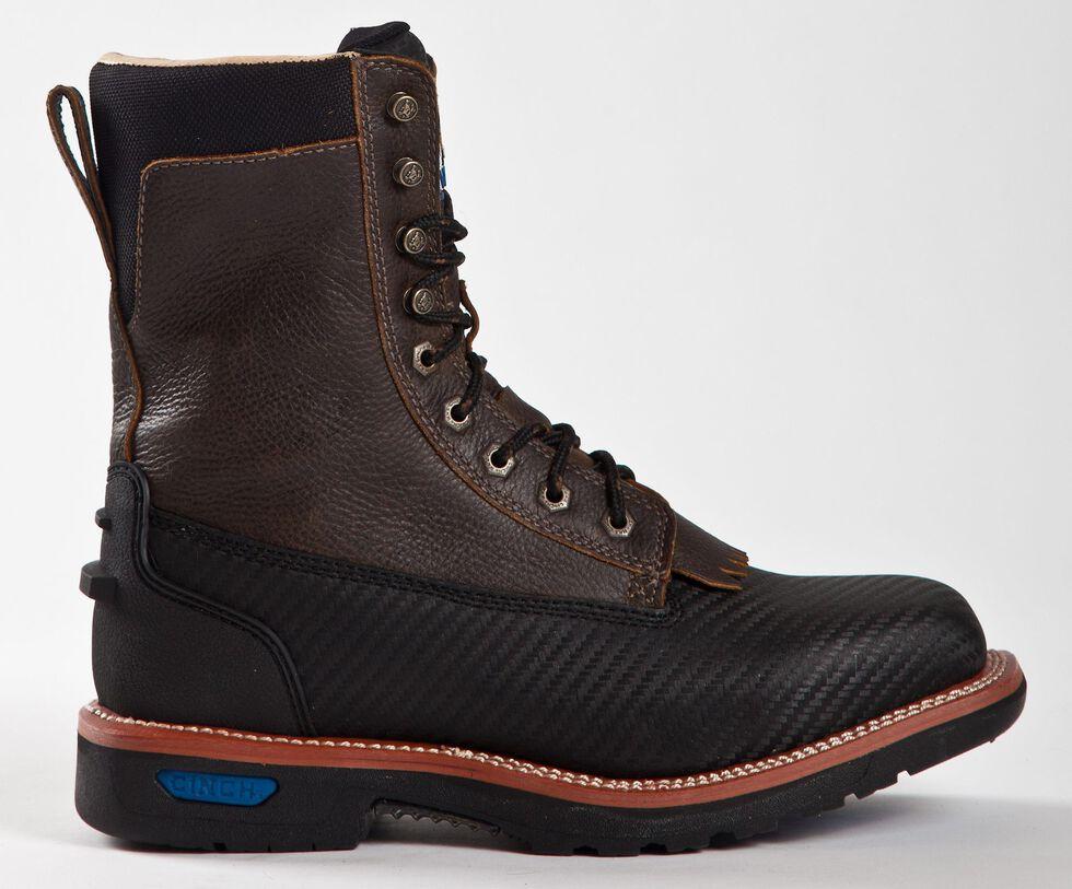 "Cinch Men's Utility 9"" Lace Up Work Boots, Black, hi-res"