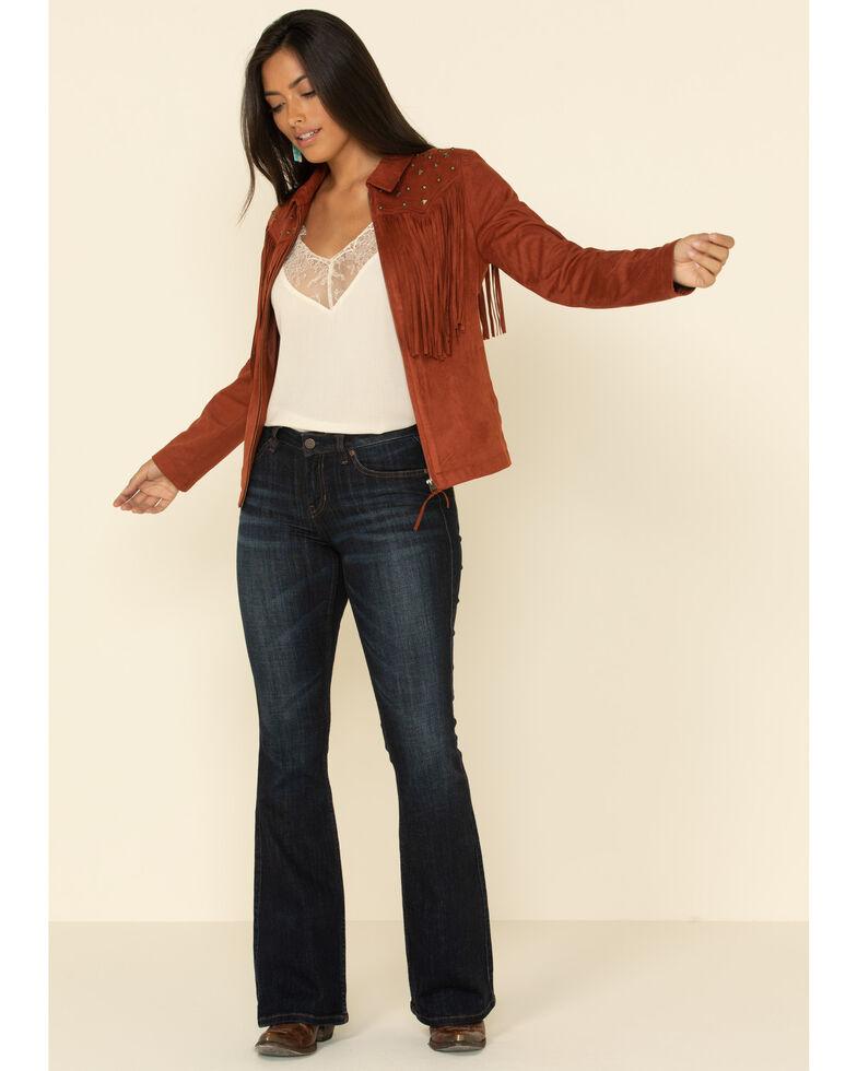 Idyllwind Women's Stargazer Faux Suede Jacket , Rust Copper, hi-res