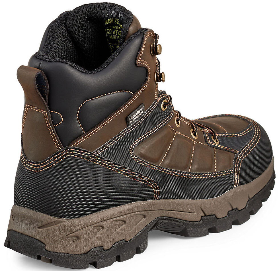 Irish Setter by Red Wing Shoes Men's Ely Waterproof Hiker Work Boots - Aluminum Toe , Brown, hi-res