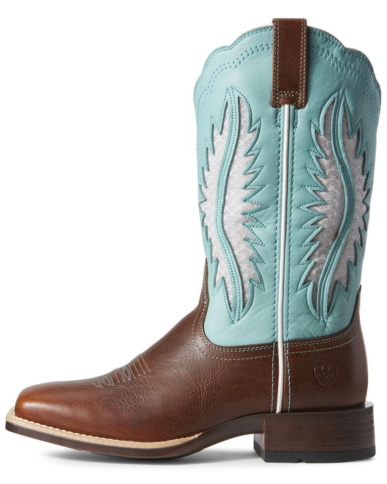 Ariat Women's Solana VentTEK Western Boots - Wide Square Toe, Brown, hi-res