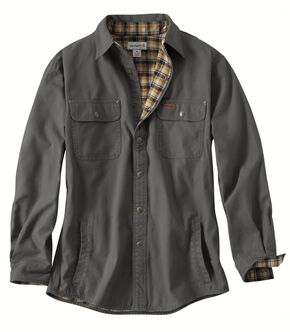 Carhartt Weathered Canvas Shirt Jacket, Grey, hi-res