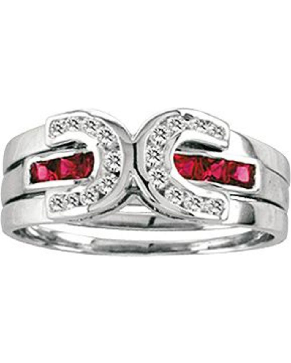 Kelly Herd Sterling Silver Interchangeable Horseshoe Ring, Silver, hi-res