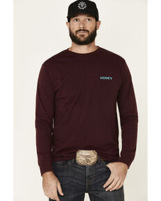 HOOey Men's Red Guadalupe Logo Graphic Long Sleeve T-Shirt, Red, hi-res