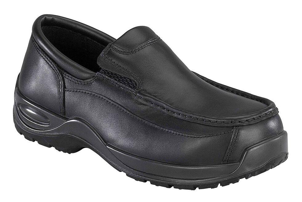 Florsheim Men's Ace Composite Toe Slip-On Shoes, Black, hi-res