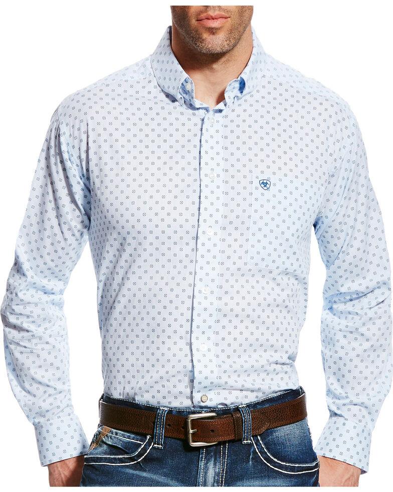 Ariat Men's Farlin Print Button Down Shirt, White, hi-res