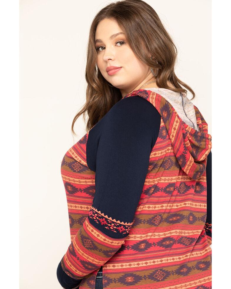 White Label by Panhandle Women's Aztec Color-Block Hoodie - Plus, Multi, hi-res