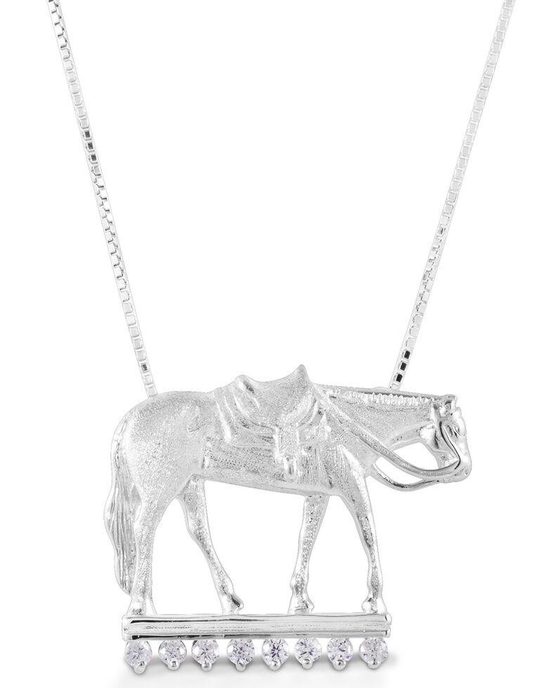 Kelly Herd Women's Large Western Pleasure Horse Necklace , Silver, hi-res