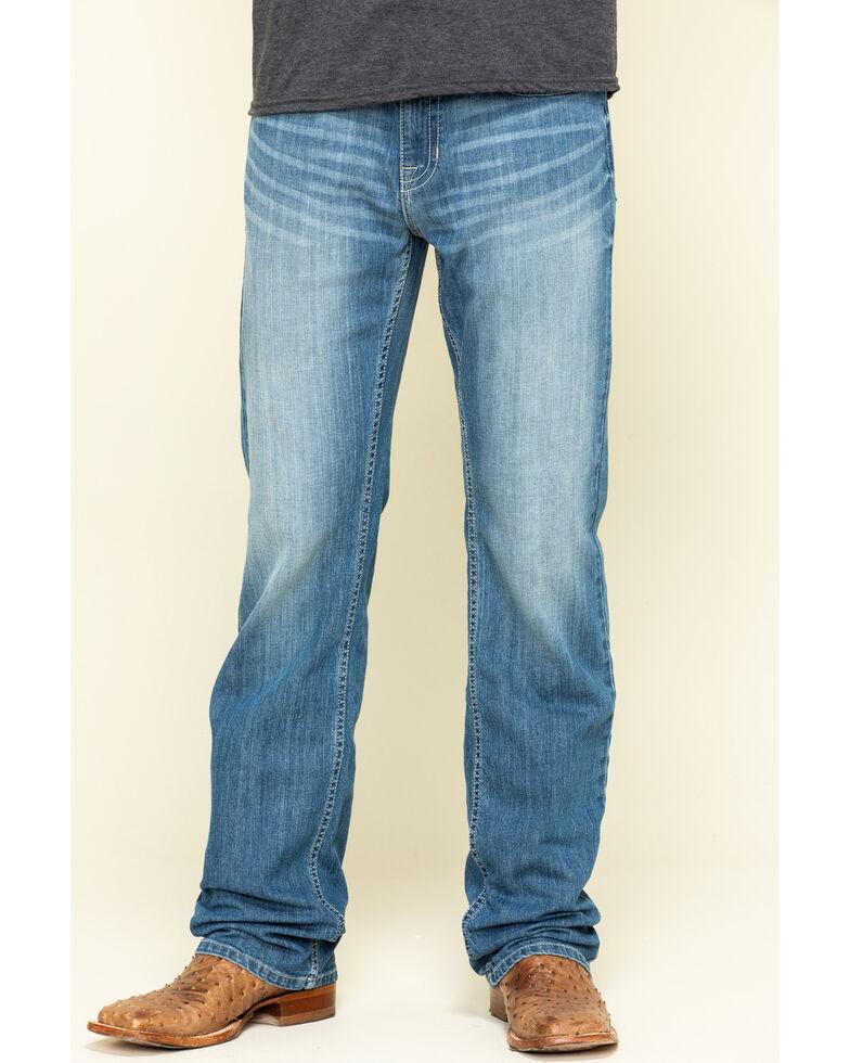 Cody James Men's Clovehitch Stackable Medium Wash Stretch Regular Straight Jeans , Blue, hi-res