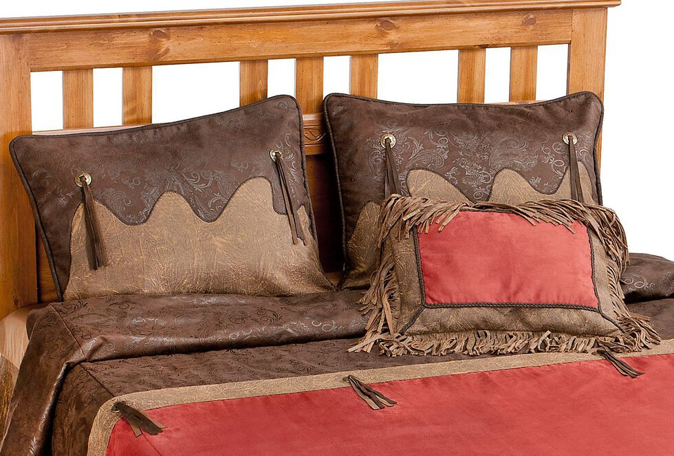HiEnd Accents Red Rodeo King Comforter Set, Red, hi-res