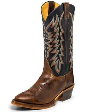 Justin Men's Keaton Western Boots - Medium Toe, Brown, hi-res