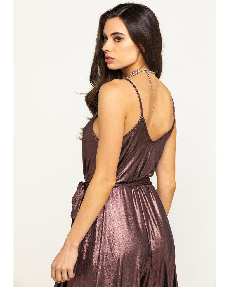 Luna Chix Women's Pink Pleat Metallic Dress , Pink, hi-res