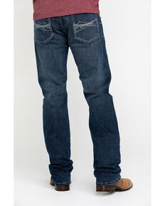 Rock 47 By Wrangler Men's Quartet Stretch Slim Straight Jeans , Blue, hi-res