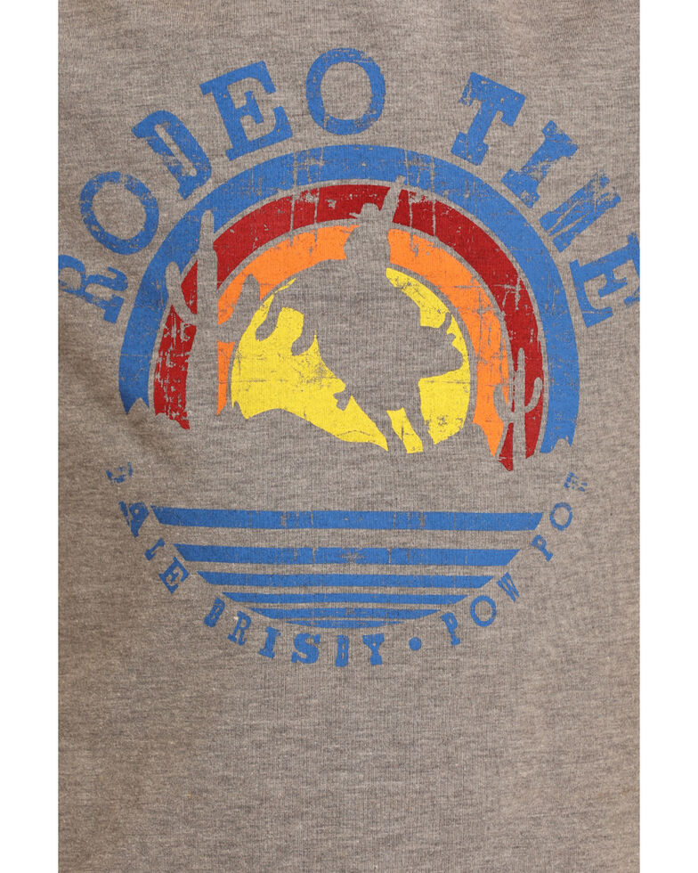 Rock & Roll Cowboy Boys' Rodeo Time Sunset Graphic T-Shirt , Grey, hi-res