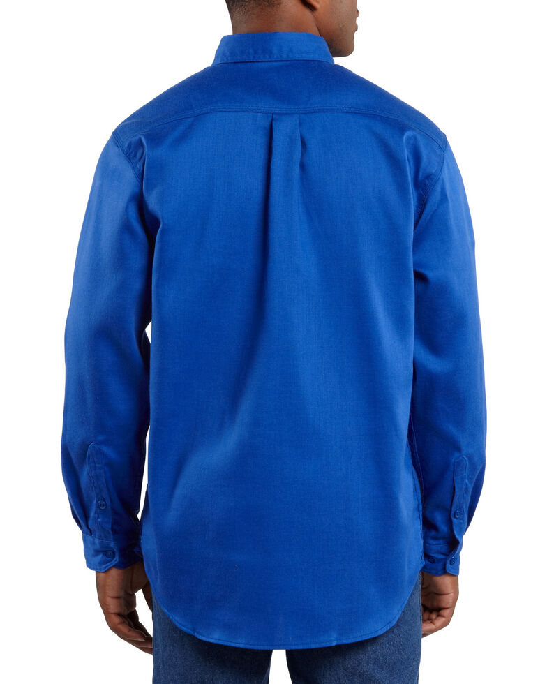 Carhartt Flame Resistant Work-Dry® Twill Long Sleeve Shirt - Big & Tall, Royal, hi-res