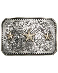 AndWest Sinagua Vintage Triple Star Buckle, Gold, hi-res