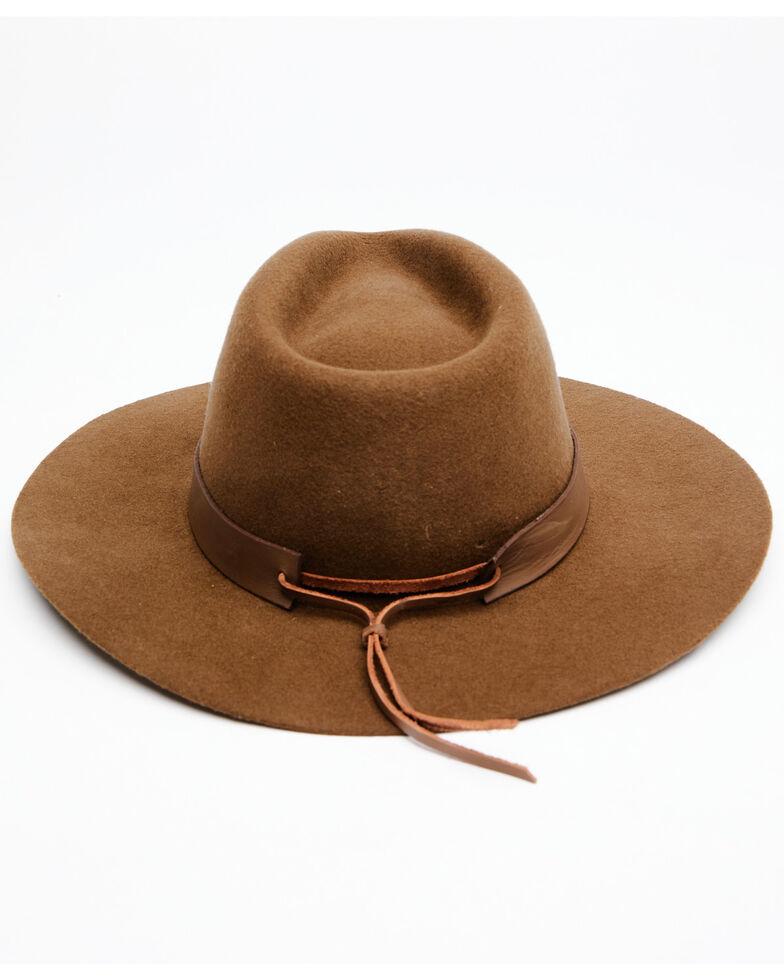 Shyanne Women's Tan O Yarrow Wool Felt Western Hat , Tan, hi-res